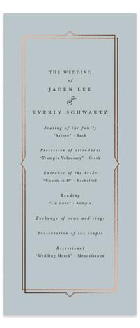 Vienna Foil-Pressed Wedding Programs