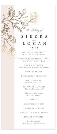 Graceful Foil-Pressed Wedding Programs
