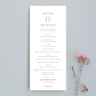 Valencay Wedding Programs