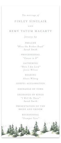 On the Slopes Wedding Programs
