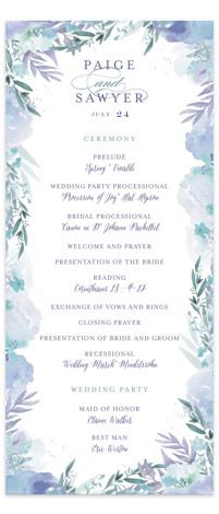 Big Blooms Wedding Programs