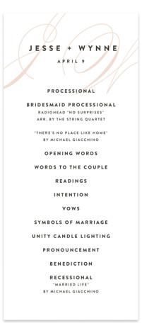 Twirl Monogram A Wedding Programs