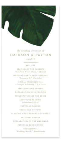 Palm Wedding Programs