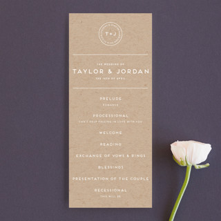 Modern Stamp Wedding Programs
