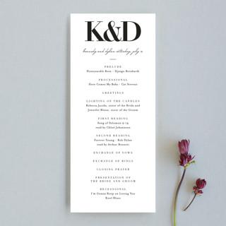The Minimalist Wedding Programs