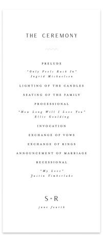 Adora Wedding Programs