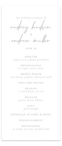 mod Wedding Programs
