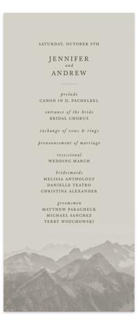 Modern Mountain Wedding Programs