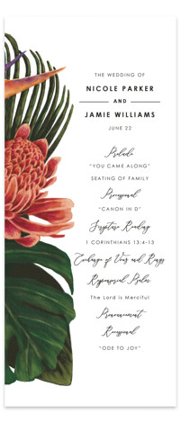Tropical Bouquet Wedding Programs