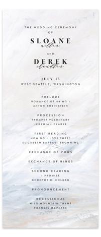 wishful Wedding Programs