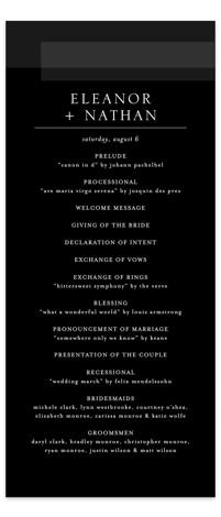 Transparent Wedding Programs