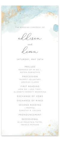 My tenderness Wedding Programs