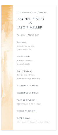 Sand & Sun Wedding Programs