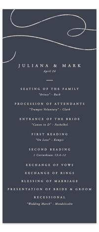 Fountain Pen Wedding Programs