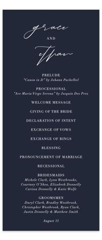 first dance Wedding Programs