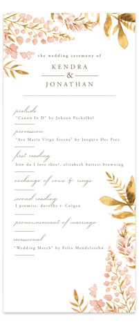 Spring Wildflowers Wedding Programs
