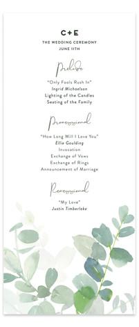 Soft Eucalyptus Wedding Programs