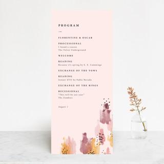 Mod Brush Wedding Programs