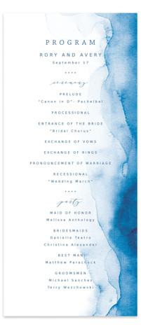 Watercolor waves Wedding Programs