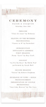 Barnwood Wedding Programs