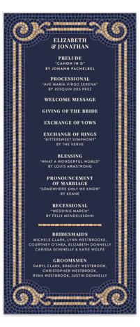 Mosaic Wedding Programs