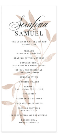 Serafina Wedding Programs