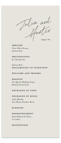 Landscape Wedding Programs