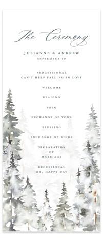 Grand Escape Wedding Programs