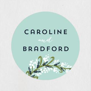 Midnight Floral Wedding Favor Stickers