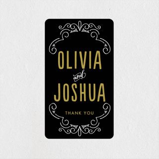 Luxe Wedding Favor Stickers