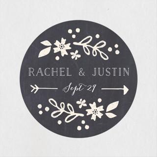 Alabaster Florals Wedding Favor Stickers