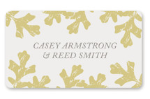 Autumn Leaves Wedding Favor Stickers