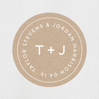 Modern Stamp Wedding Favor Stickers