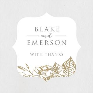 Gilded Wildflowers Wedding Favor Stickers