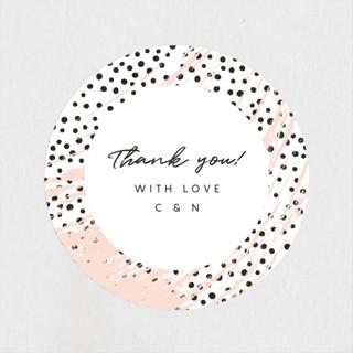 Textured Dots Wedding Favor Stickers