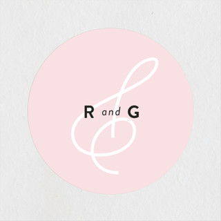AND Wedding Favor Stickers