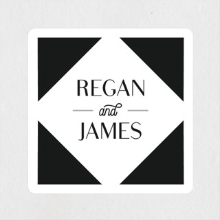 Brilliant Cut Wedding Favor Stickers