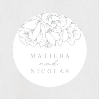Refined Bouquet Wedding Favor Stickers