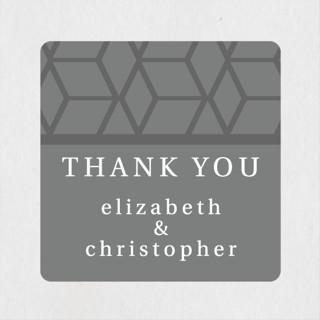 Geometric Pattern Wedding Favor Stickers