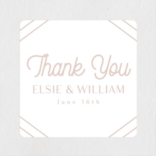 Radiant Frame Wedding Favor Stickers
