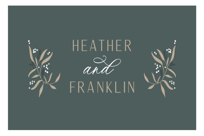 Gilded Wedding favor stickers