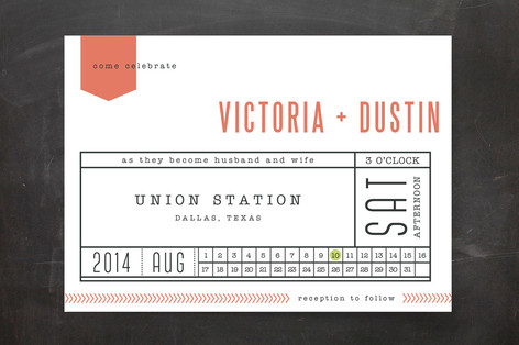 Ticket to Love Print-It-Yourself Wedding Invitations