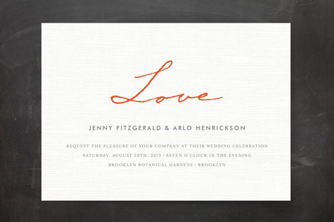 Simply in Love Print-It-Yourself Wedding Invitations