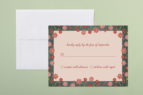 Serendipity Floral Print-It-Yourself RSVP Cards