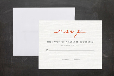 Simply in Love Print-It-Yourself RSVP Cards
