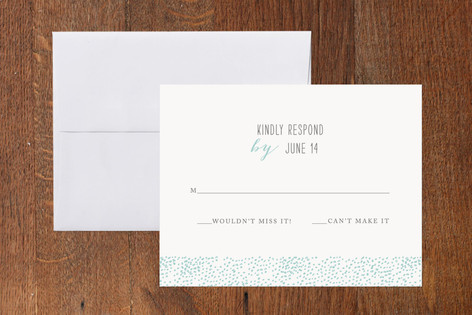 Cloud of Dots Print-It-Yourself RSVP Cards